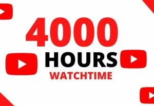 9126YouTube Cheap Watch Time – 4000 Hours