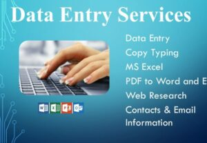 9493i will do data entry and web research for you