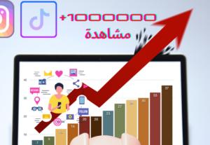 16080زيادة عدد المشاهدات على فيديوهات الانستغرام والتيكتوك الى حد 1000000مشاهدة وأكثر